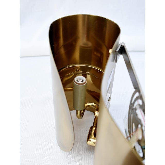 2010s Brass Wall Sconce For Sale - Image 5 of 8