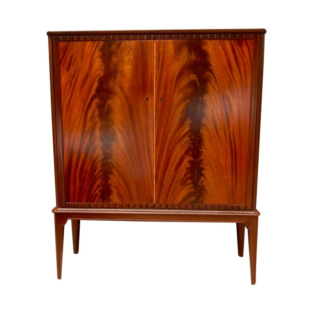 Swedish Moderne Cabinet in Flame Mahogany, 1940's - Image 1 of 10