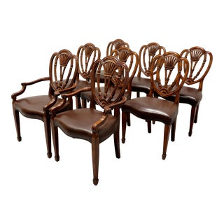 Theodore Alexander Mahogany Hepplewhite Dining Chairs - Set of 4 Armless For Sale