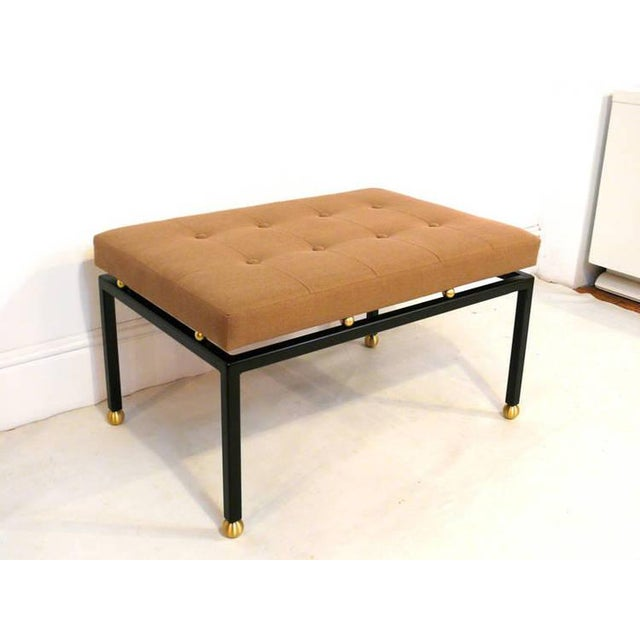 Custom CF MODERN Brass Ball Foot Bench - Image 10 of 11