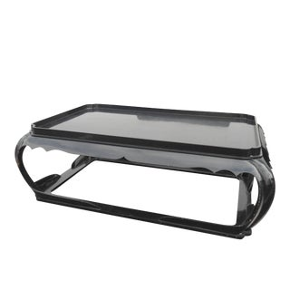 Asian Black Lacquer Coffee Table