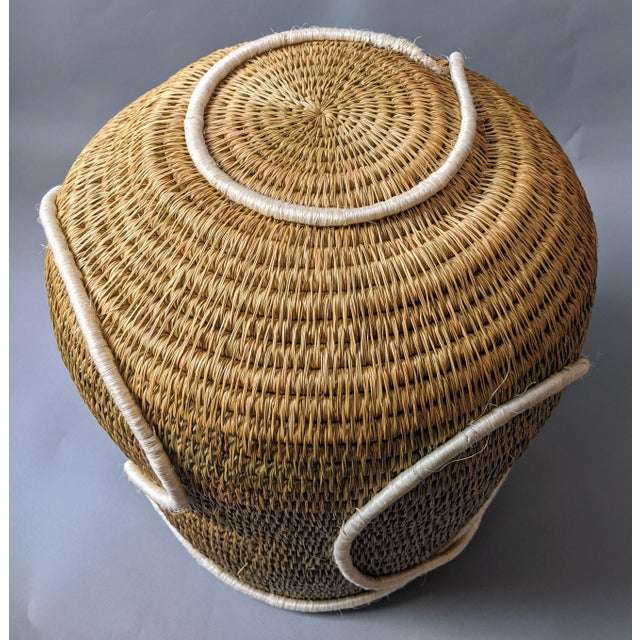 Swaziland Handwoven African Basket For Sale - Image 9 of 11