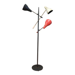 1960s Mid-Century Modern Gerald Thurston Triple Arm Floor Lamp