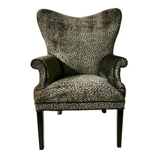 Charcoal Velvet Butterfly Chair For Sale