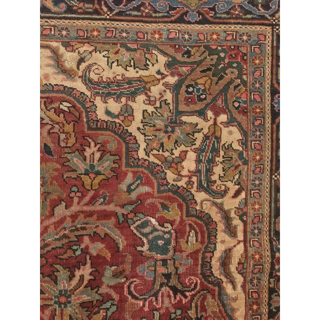 """Thick & Hearty Vintage Persian Ahar Area Rug - 7'3"""" x 10'5"""" - Image 8 of 11"""