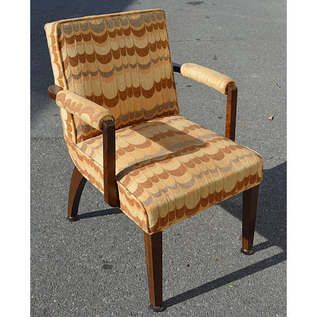 Fabric 1940s Gilbert Rohde for Herman Miller Dining Chairs - Set of 6 For Sale - Image 7 of 8
