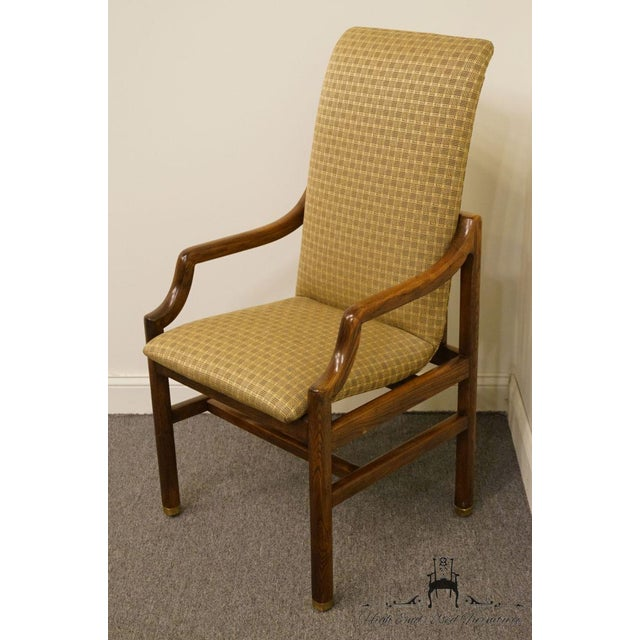 Danish Modern Henredon Mid-Century Modern Solid Walnut Dining Arm Chair For Sale - Image 3 of 13