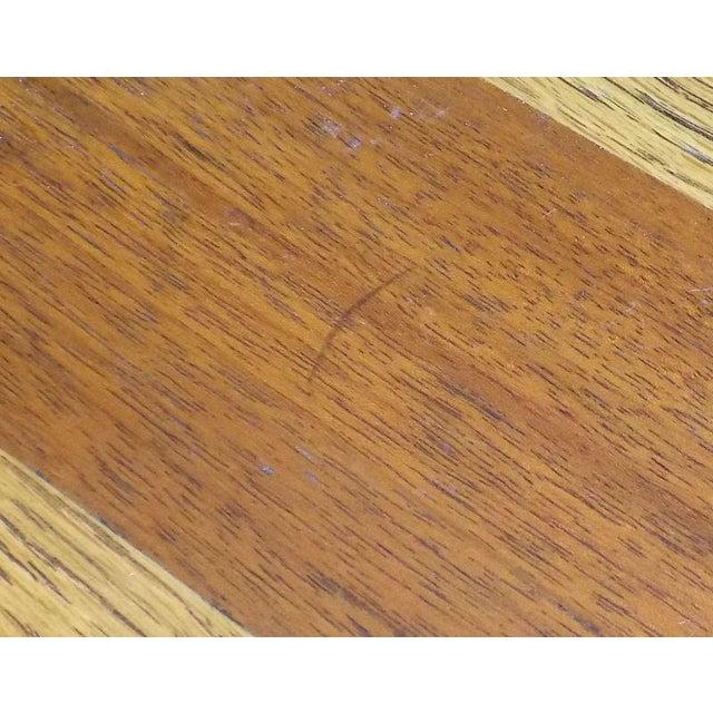 Lane Oak & Walnut Parquet Top End Table For Sale - Image 9 of 12