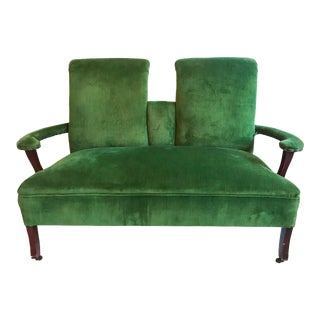 1970s Vintage Velvet Loveseat For Sale