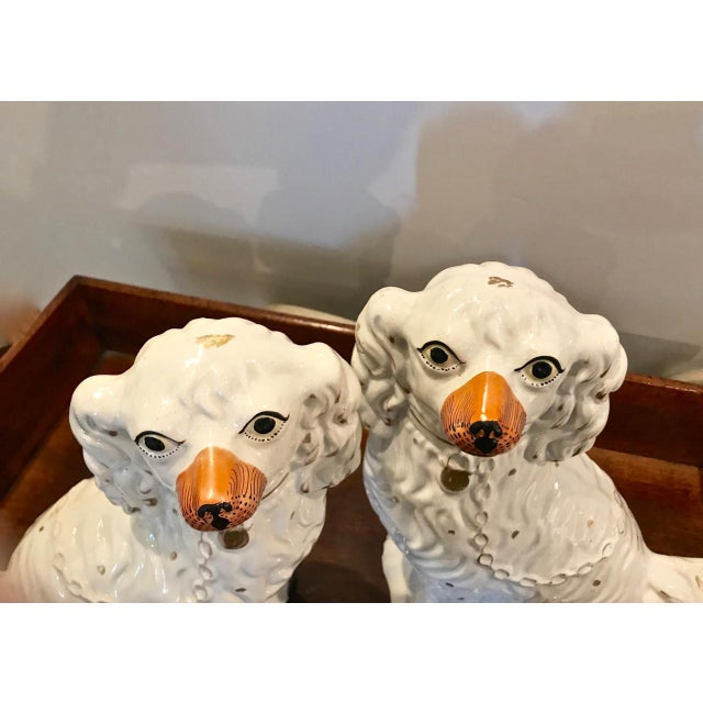 Boho Chic Pair Large English Staffordshire Spaniels, C. 1860 For Sale - Image 3 of 10