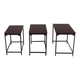 Set of Three Dunbar Nesting Tables For Sale
