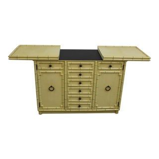 Faux Bamboo Style Buffet For Sale