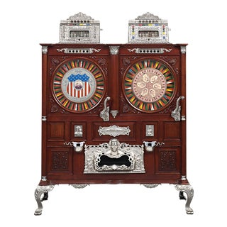 Mills Double Upright Slot Machine For Sale