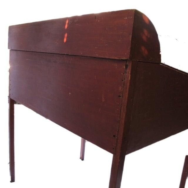 Original Red Painted Schoolmaster's Desk - Image 5 of 9
