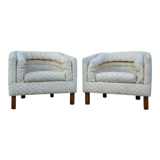 Vintage Barrel Chairs - a Pair