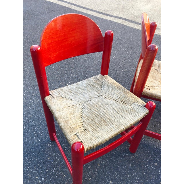 Textile Hank Lowenstein Rush Seat Dining Chairs Made in Italy- Set of 8 For Sale - Image 7 of 13