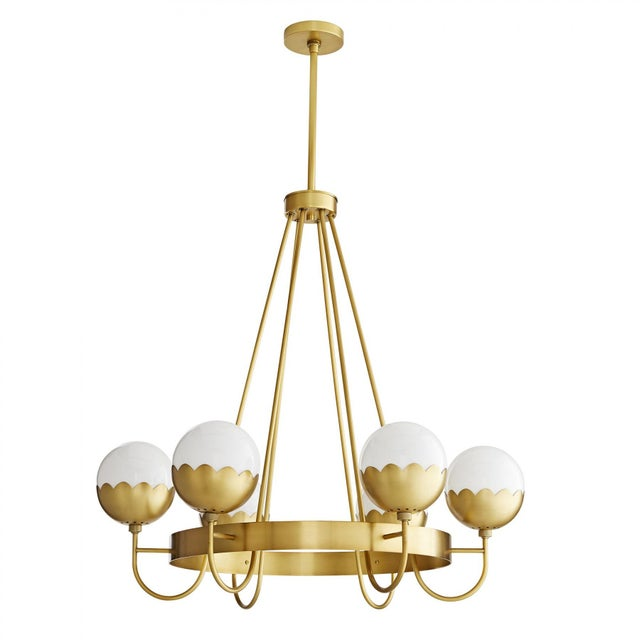 Boho Chic Celerie Kemble for Arteriors Cleo Chandelier For Sale - Image 3 of 12