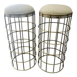 Noir Home Ryley Brass Barstools - a Pair