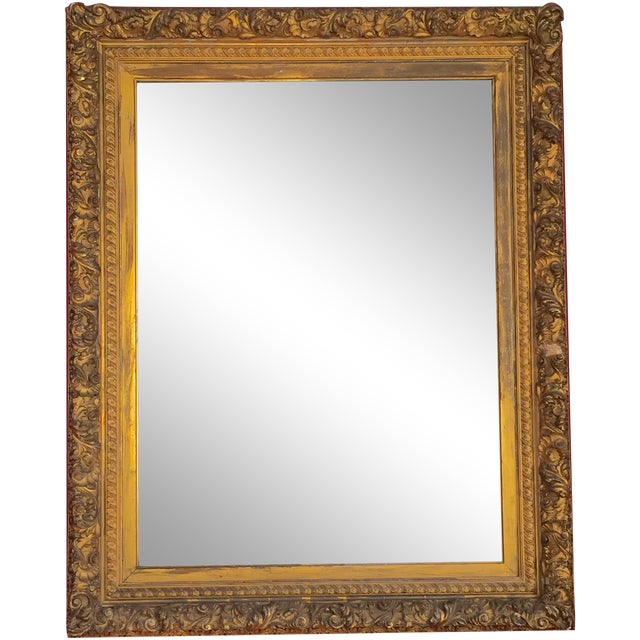 19th Century Grand Carved Gesso Frame Mirror - Image 1 of 5