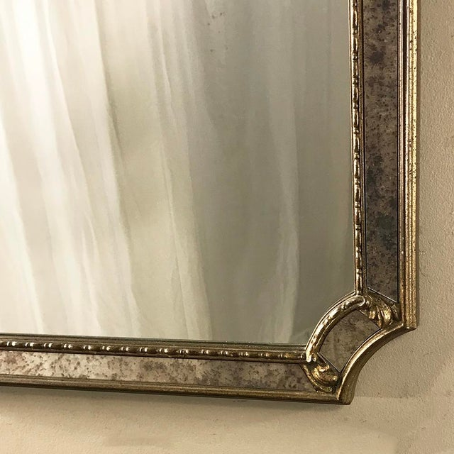 Mid-Century Italian Venetian Gilded Mirror For Sale - Image 10 of 13