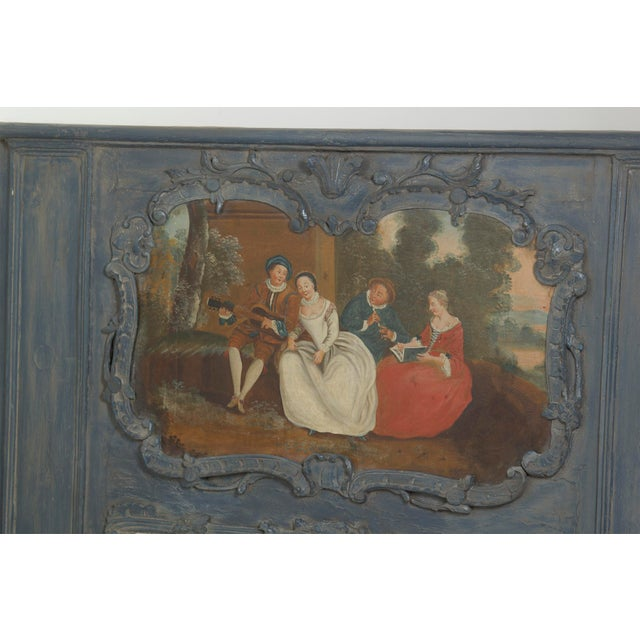 Italian Early 20th Century Painted Trumeau Mirror For Sale - Image 3 of 7