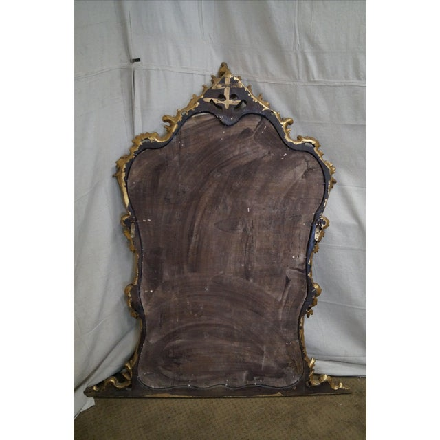 French Louis XV Carved Gilt Console Wall Mirror - Image 4 of 10