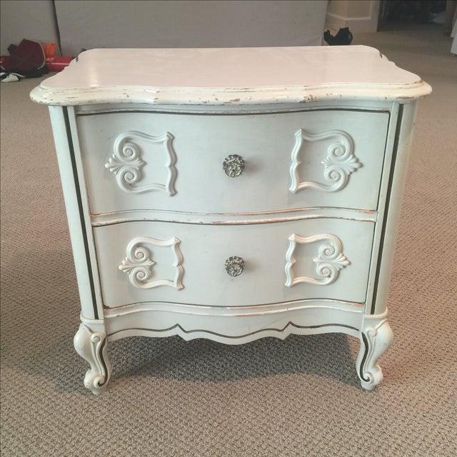 Ivory 2-Drawer Bedside Table - Image 3 of 8