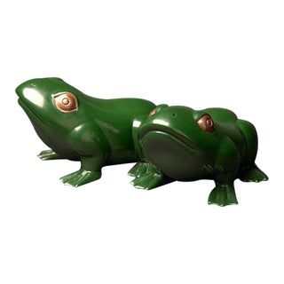 Green Lacquer Frog For Sale