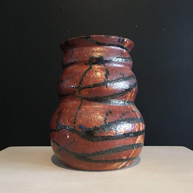 Stunning Signed Studio Glazed Pottery Vase - Image 3 of 7