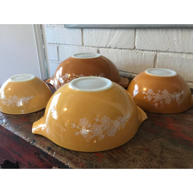 Vintage Pyrex Butterfly Gold Mixing Bowls - Set of 4 | Chairish