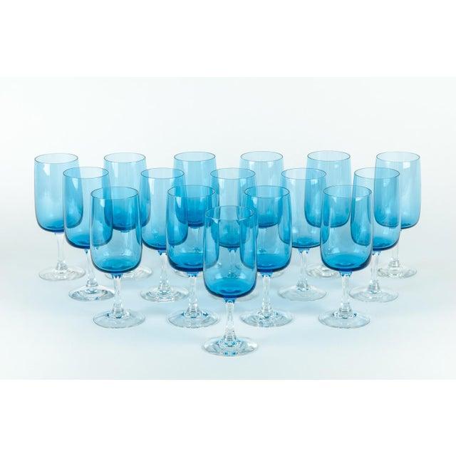Vintage Crystal Wine / Water Barware Glasses - Set of 16 For Sale - Image 9 of 9