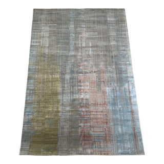 Contemporary Hand Knotted Rug - 4′ × 6′ For Sale