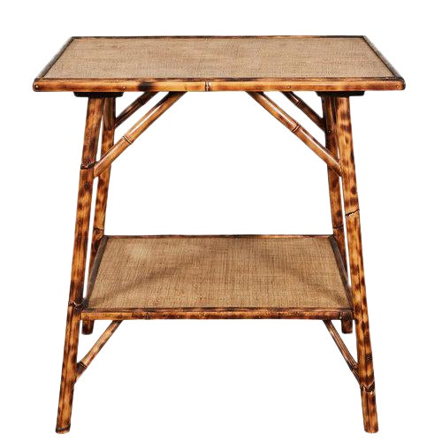 JW Custom Line Tiger Bamboo Side Table For Sale