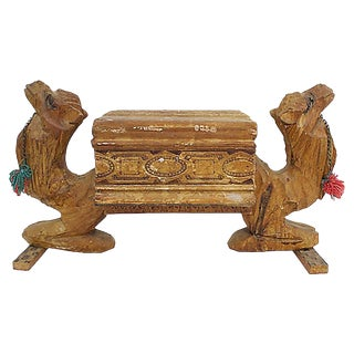 Wooden Camel Mantle Box For Sale