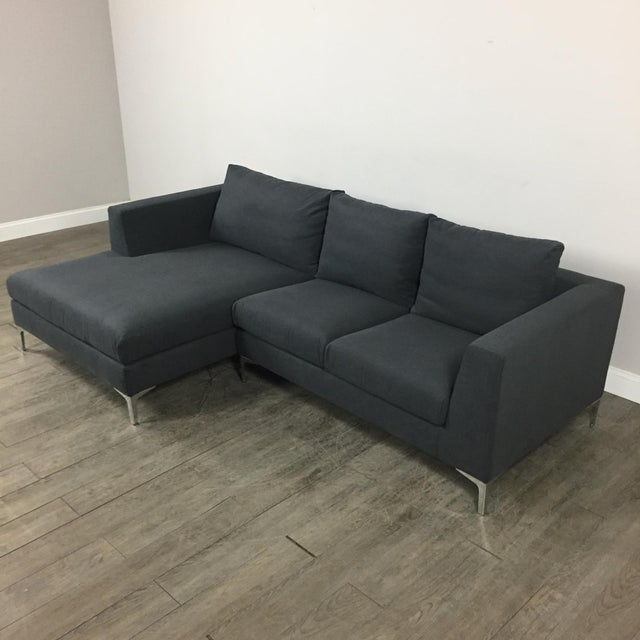Modern Gray Left Chaise Sectional Sofa - Image 3 of 8
