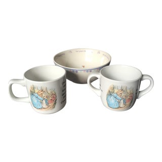 Wedgwood Peter Rabbit Dishes - Set of 3 For Sale