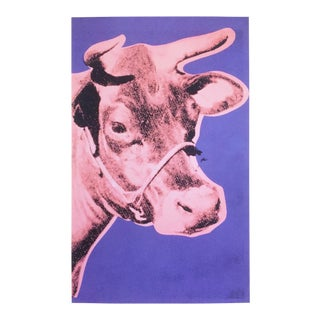 "Andy Warhol Foundation Lithograph Print Pop Art Poster "" Cow Pink & Purple "" 1976 For Sale"