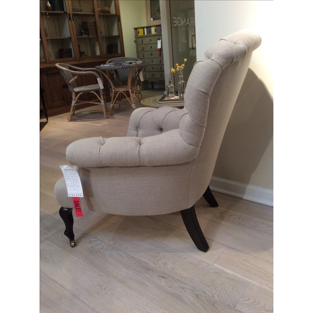 Natural Linen Najac Tufted Armchair - Image 5 of 5