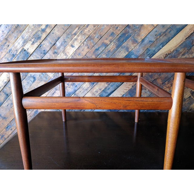 Mid-Century Modern Pair of Danish Teak Mid Century Side/Coffee Tables by Grete Jalk for Glostrup For Sale - Image 3 of 10