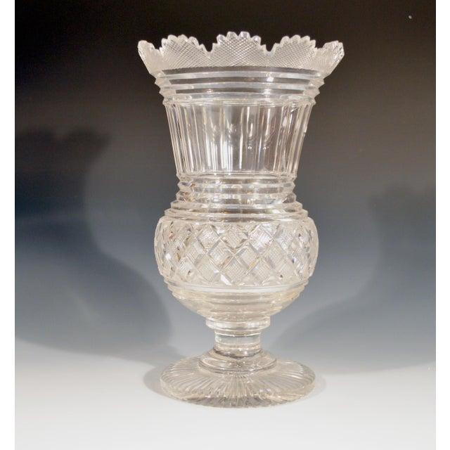 Georgian Regency Glass Large Celery Vase, Circa 1820. For Sale - Image 3 of 7