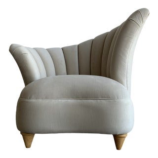 Deco Shell Channel Back Chair For Sale