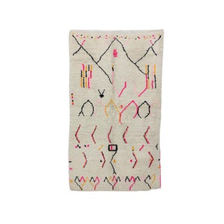 """Moroccan Azilal Rug-4'5"""" X 7'3"""" For Sale"""