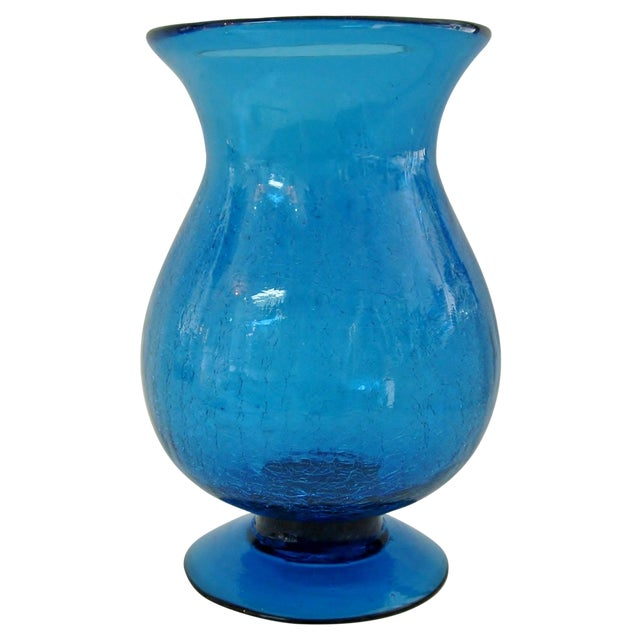 Peacock Glass Urn Vase - Image 1 of 4