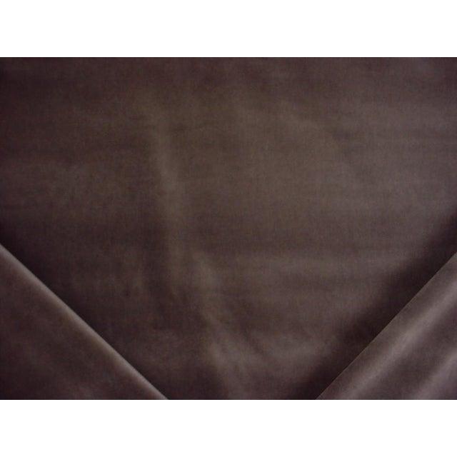 2010s Andrew Martin Pelham Taupe Velvet Upholstery Fabric - 10-5/8 Yards For Sale - Image 5 of 5