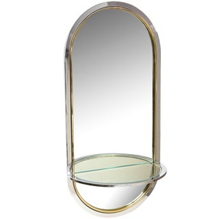 1970s Vintage Pace Modern Racetrack Arched Wall Mirror For Sale