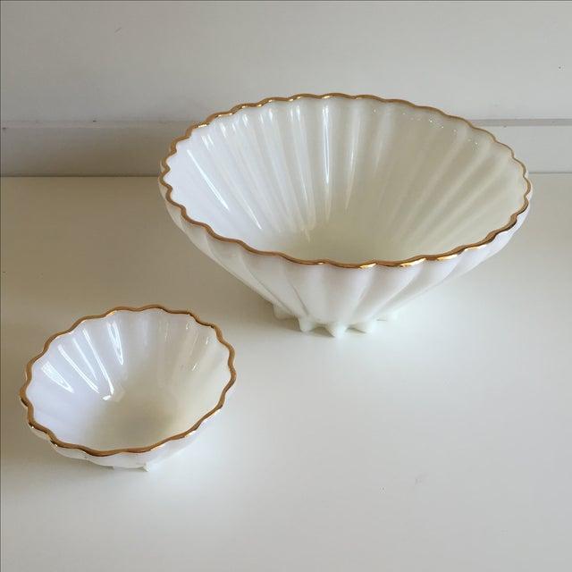 Classic Milk Glass Anchor Hocking Bowl Set - Pair - Image 2 of 10