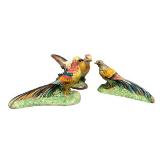 Vintage Porcelain Bird Figurines - Set of 3 For Sale