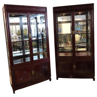 Asian Style Mahogany Cabinets by John Widdicomb-a Pair For Sale