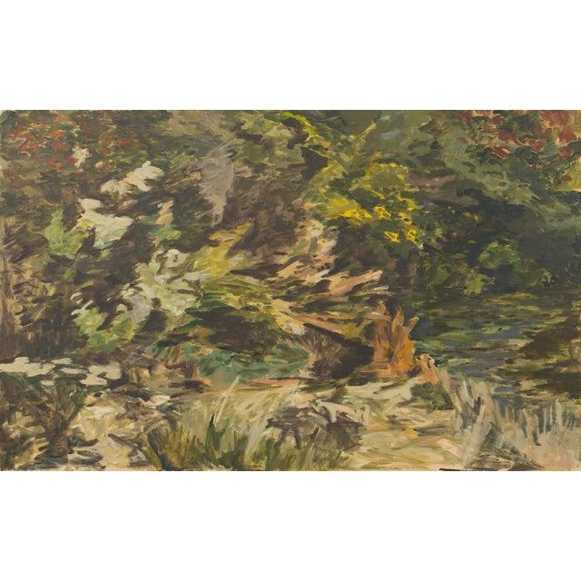 """Yellow Slater Sousley, """"The Overgrowth on the Bank"""" For Sale - Image 8 of 8"""