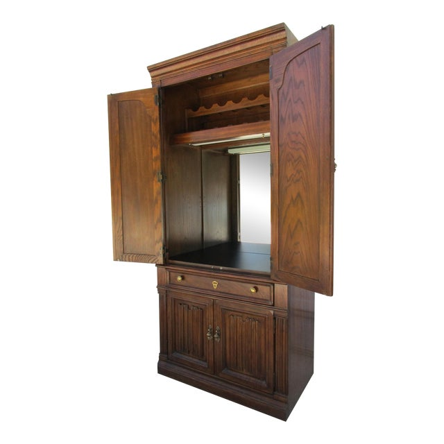 Drexel Lighted Bar Cabinet With Wine Rack - Image 1 of 12